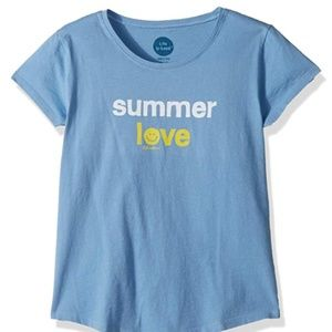 Life is Good Blue Summer Love Medium T-shirt